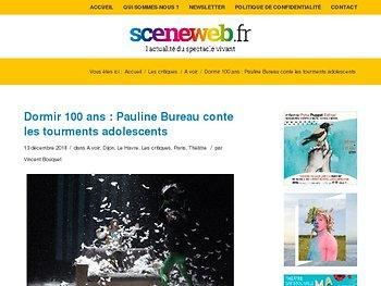 Dormir 100 ans : Pauline Bureau conte les tourments adolescents