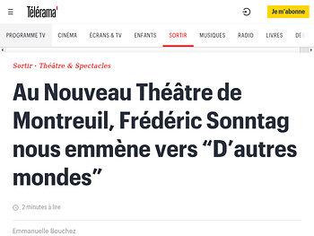 """Frédéric Sonntag nous emmène vers """"D'autres mondes"""""""
