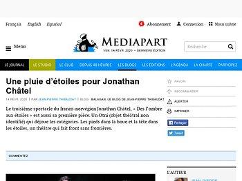 Une pluie d'étoiles pour Jonathan Châtel