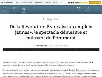 De la Révolution Française aux «gilets jaunes», le spectacle démesuré et puissant de Pommerat