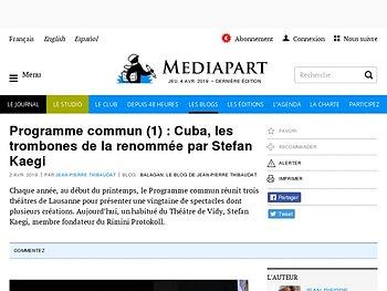 Programme commun (1) : Cuba, les trombones de la renommée par Stefan Kaegi