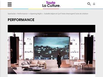"""""""Opening Night"""" : Isabelle Adjani et Cyril Teste interrogent l'acte de création"""