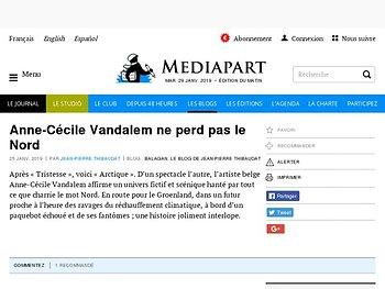 Anne-Cécile Vandalem ne perd pas le Nord