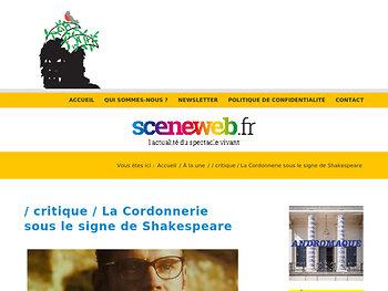 La Cordonnerie sous le signe de Shakespeare