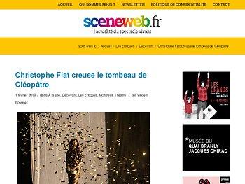 Christophe Fiat creuse le tombeau de Cléopâtre