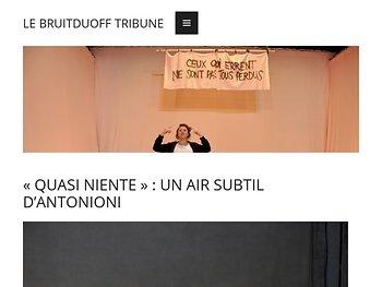 «Quasi niente» : un air subtil d'Antonioni