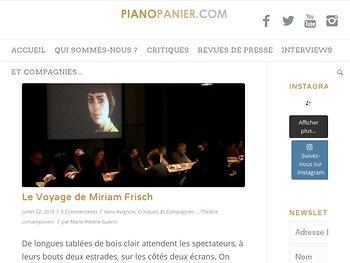 Le Voyage de Miriam Frisch - Un spectacle de la compagnie Hanna R