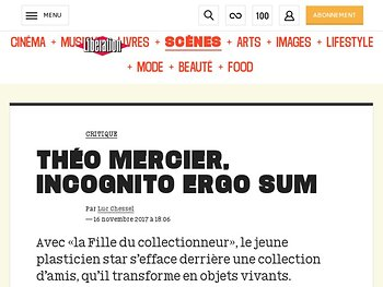 Théo Mercier, incognito ergo sum
