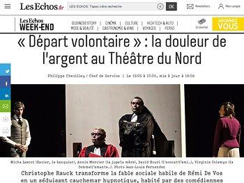 «Départ volontaire»: la douleur de l'argent au Théâtre du Nord