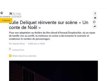 Julie Deliquet réinvente sur scène «Un conte de Noël»