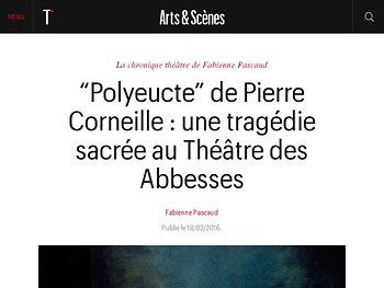 Une tragédie sacrée au Théâtre des Abbesses