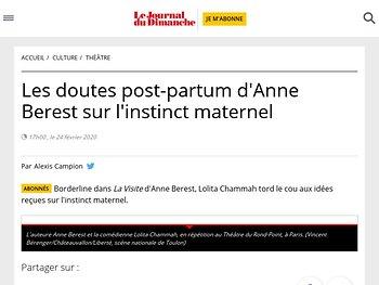 Les doutes post-partum d'Anne Berest sur l'instinct maternel