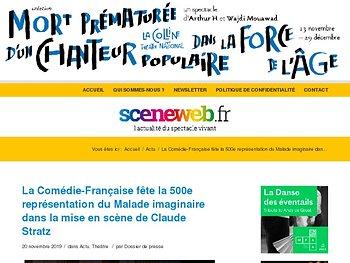 La Comédie-Française fête la 500e représentation du Malade imaginaire