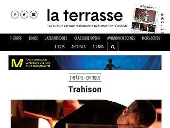 """""""Trahison"""", entre incarnation et distanciation"""