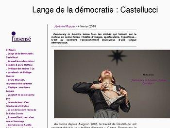 Lange de la démocratie : Castellucci