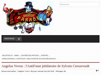 l'Antifaust jubilatoire de Sylvain Creuzevault