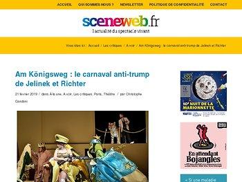 Am Königsweg : le carnaval anti-trump de Jelinek et Richter