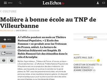 Molière à bonne école au TNP de Villeurbanne
