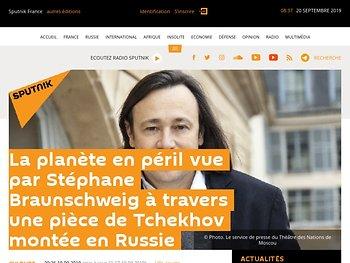 La planète en péril vue par Stéphane Braunschweig à travers une pièce de Tchekhov montée en Russie