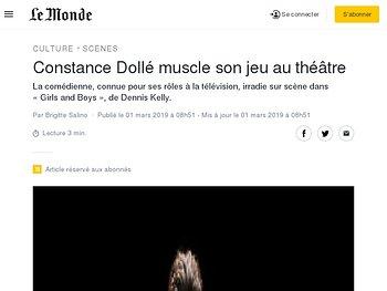 Constance Dollé muscle son jeu au théâtre