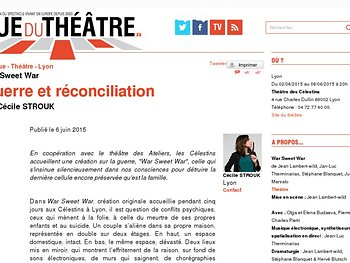 Guerre et réconciliation - War Sweet War