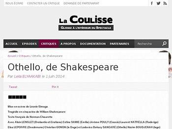 Othello : la banalité du Mal