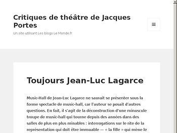 Toujours Jean-Luc Lagarce