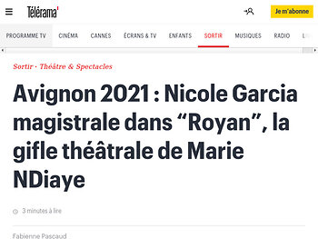 "Nicole Garcia magistrale dans ""Royan"", la gifle théâtrale de Marie NDiaye"