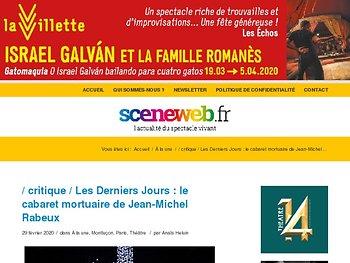 Les Derniers Jours : le cabaret mortuaire de Jean-Michel Rabeux