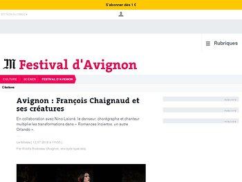 François Chaignaud et ses créatures