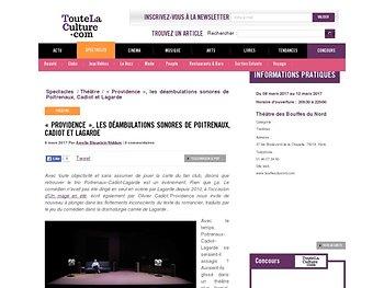 """""""Providence"""", les déambulations sonores de Poitrenaux, Cadiot et Lagarde"""