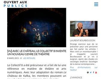 Avec Le Château, le Collectif 8 invente un nouveau genre de théâtre