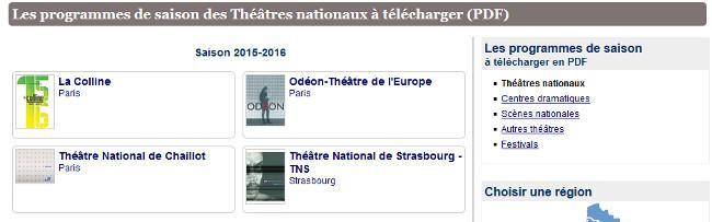 pdfs Théâtre Nationaux
